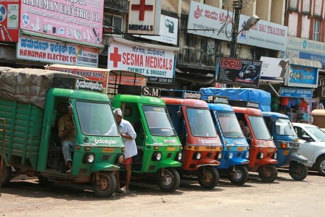 Tuk tuk cars india, transportation traffic.