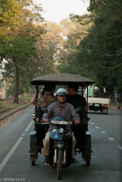 Tuk tuk rickshaw cambodia, transportation traffic.