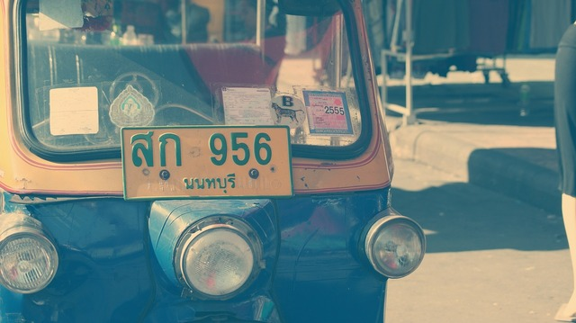 Tuk tuk thailand taxi, transportation traffic.