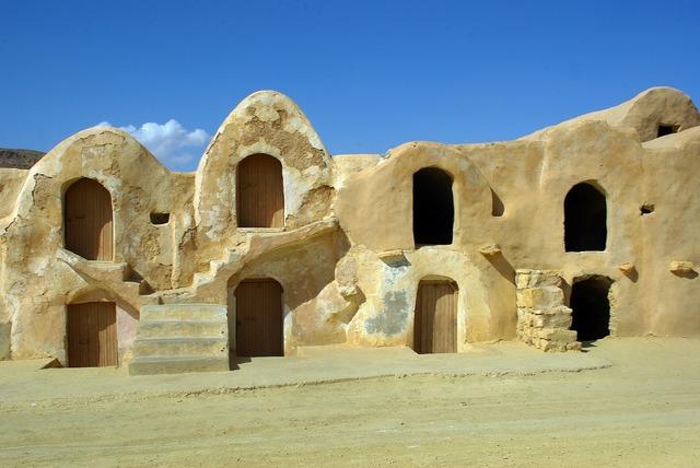 Tunisia silo grain silos, architecture buildings.