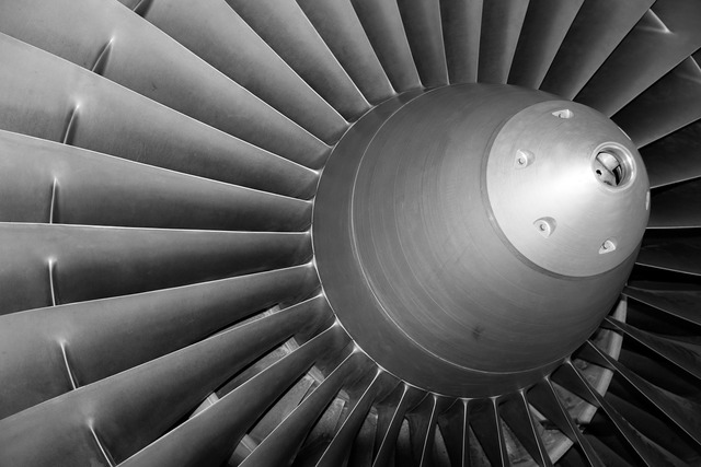 Turbine aircraft fly, science technology.