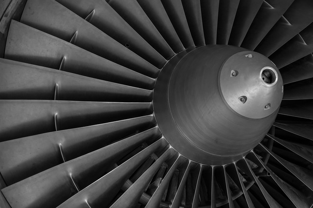 Turbine aircraft motor, science technology.