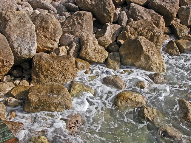 Turkey beach rock, travel vacation.