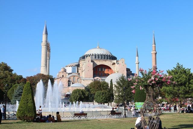 Turkey hagia sofia istanbul, architecture buildings.