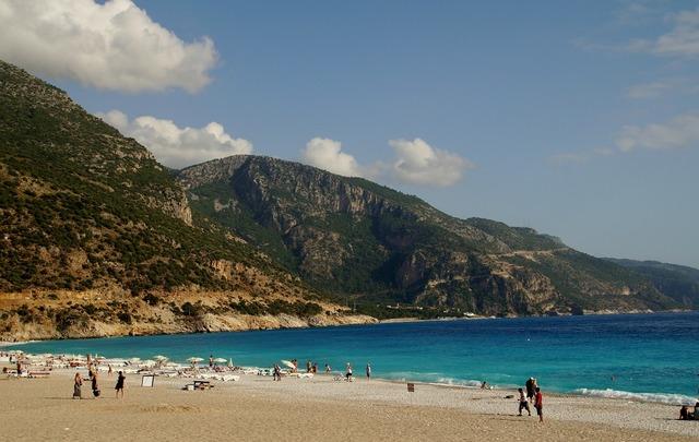 Turkey marmaris beach, travel vacation.