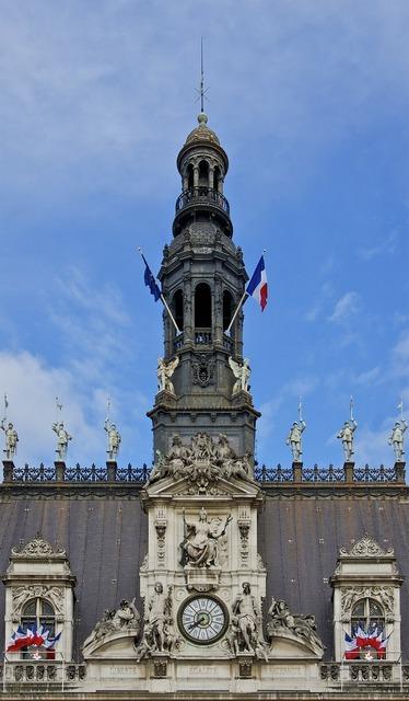 Turret city hall paris, architecture buildings.