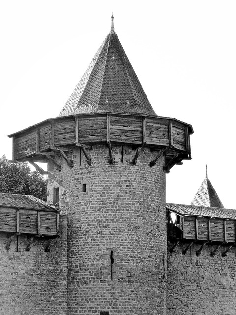 Turret defences spire.