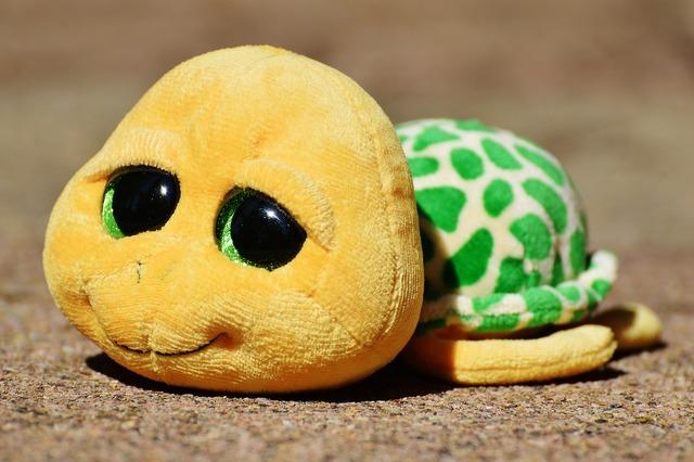 Turtle stuffed animal soft toy.