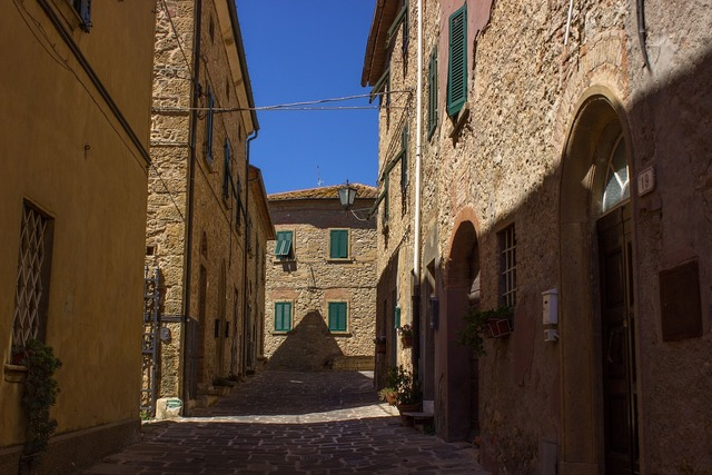 Tuscany casale marittima italy, architecture buildings.