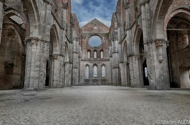 Tuscany italy monastery, architecture buildings.