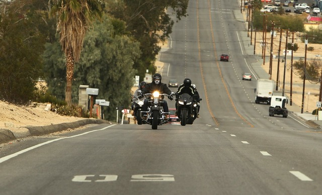 Twentynine palms california motorcycles, transportation traffic.