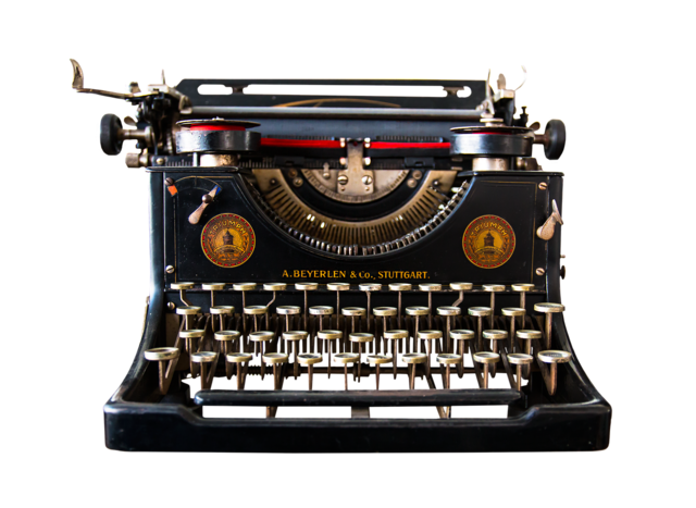 Typewriter isolated png.