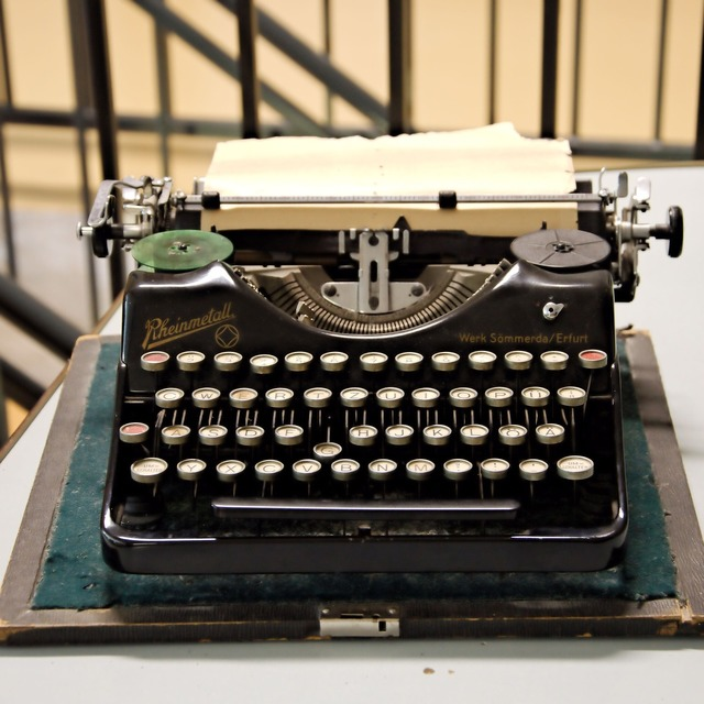 Typewriter old historically.