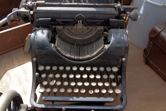 Typewriter travel typewriter alphabet.