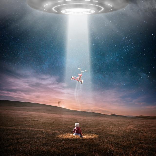 Ufo aliens landscape, nature landscapes.