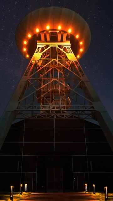 Ufo night headframe.
