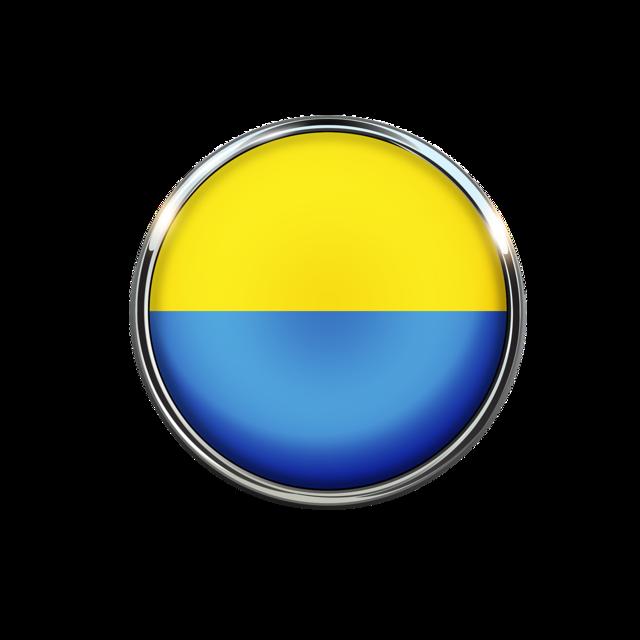 Ukraine flag circle, backgrounds textures.