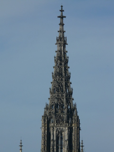Ulm cathedral great steeple, religion.