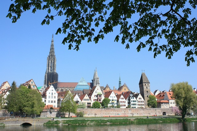 Ulm city münster, architecture buildings.