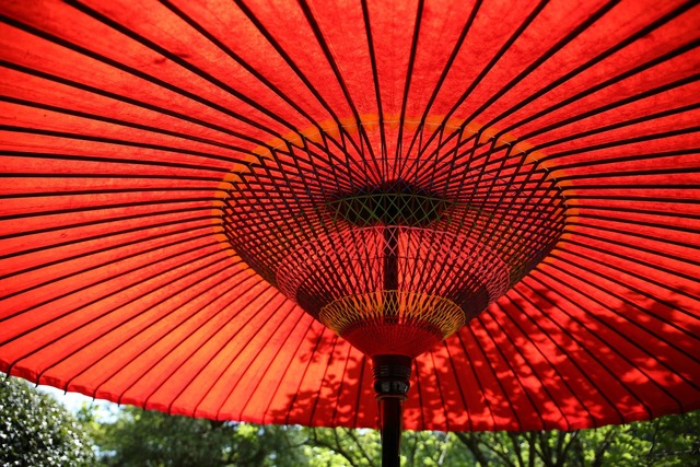 Umbrella parasol red.