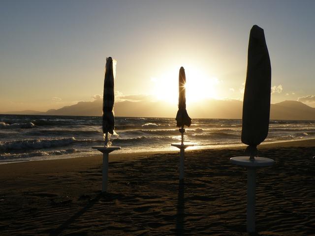 Umbrella parasol sea, travel vacation.