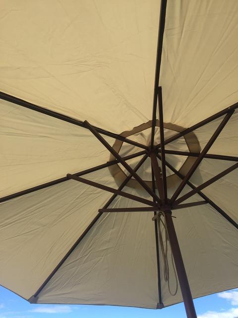 Umbrella underside summer.