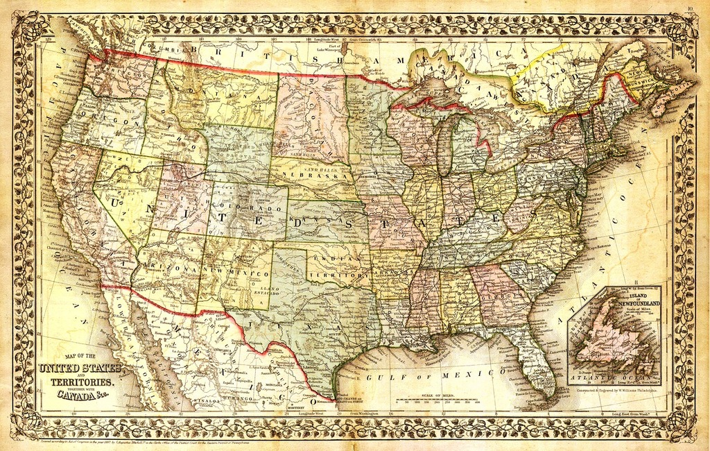 America Map Of States.United States Map North America Map Map Picryl