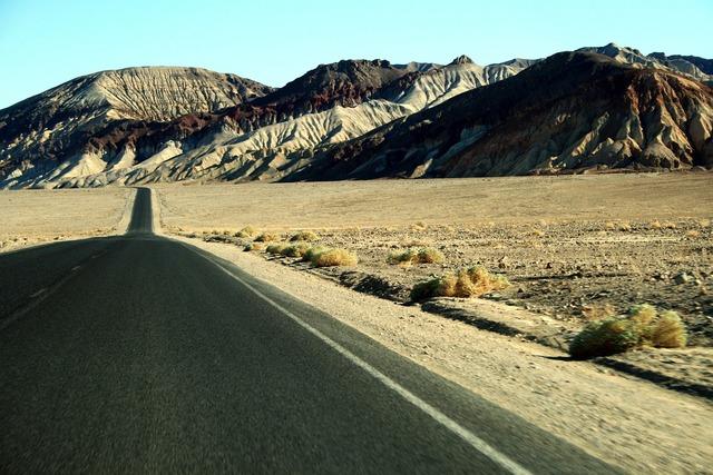United states road desert, transportation traffic.