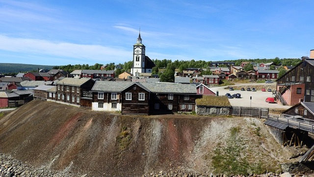 Upper town mining historical houses.