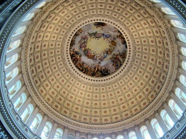 Us capitol building rotunda art.