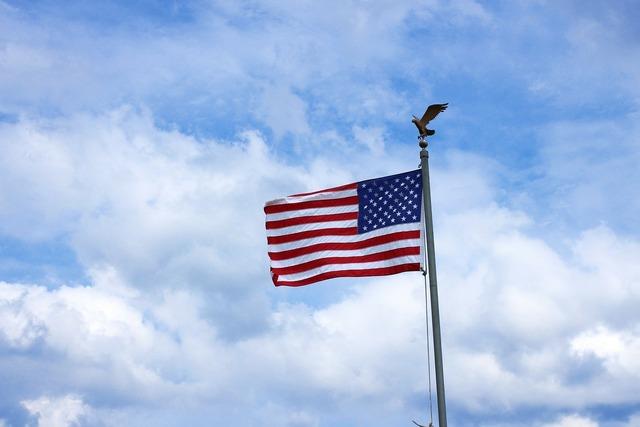 Us flag flag flutter.
