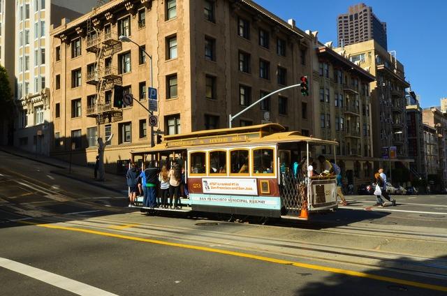 Usa america san francisco, transportation traffic.