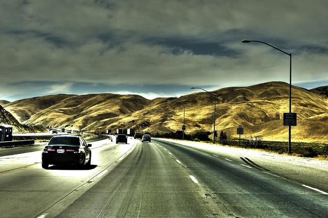 Usa california road, transportation traffic.