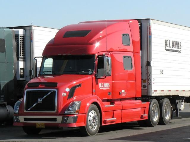 Usa california truck, transportation traffic.