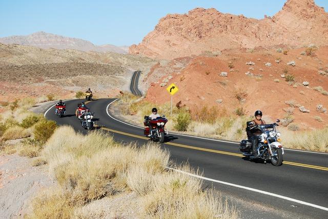 Usa motorcycle desert, transportation traffic.