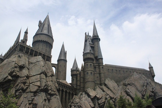 Usj hogwarts harry potter, architecture buildings.