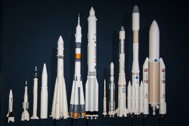 V2 rocket ariane 5 launcher rockets in the size comparison, science technology.