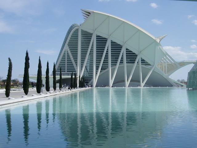 Valencia spain city of arts and sciences, architecture buildings.