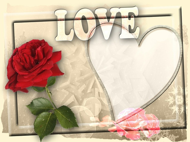 Valentine greeting card frame, backgrounds textures.