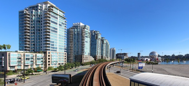Vancouver sky-train canada, transportation traffic.