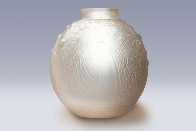 Vase glass art déco.