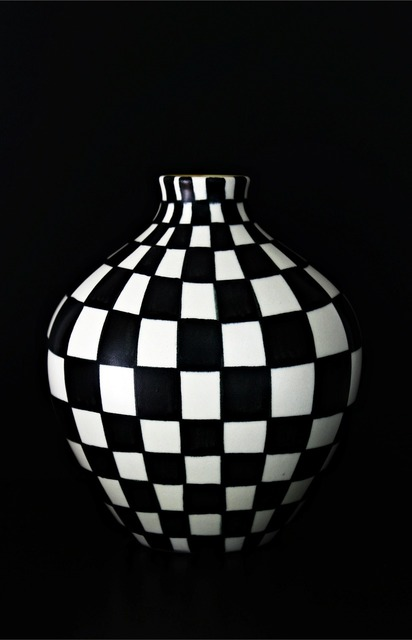 Vase hand painting black and white, backgrounds textures.