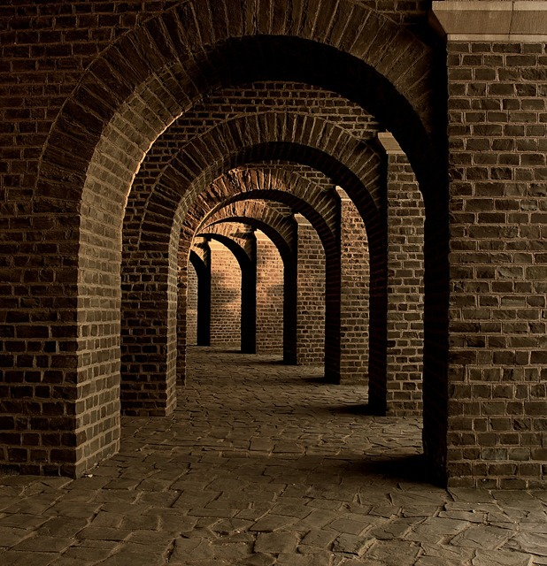 Vaulted cellar tunnel arches, places monuments.