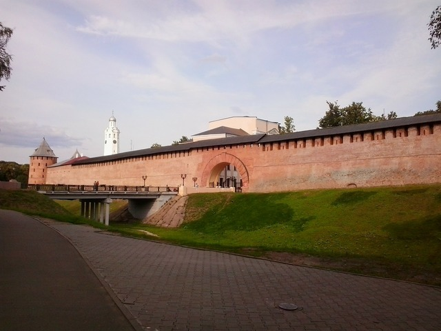 Veliky novgorod architecture wall, architecture buildings.