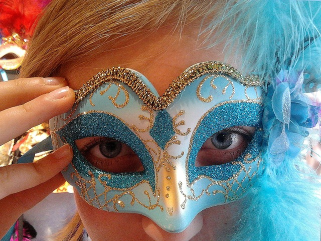 Venetian mask carnival, beauty fashion.