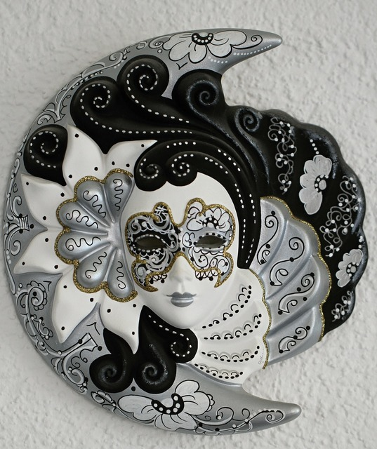 Venetian mask faces, industry craft.