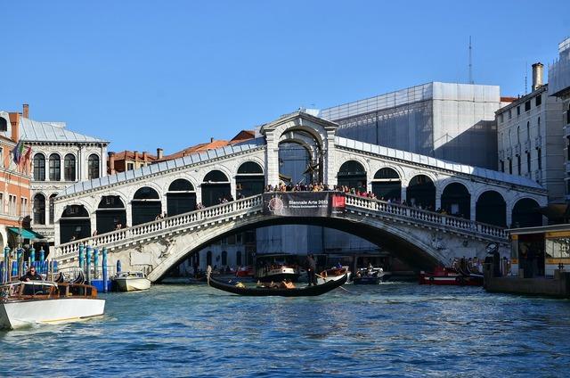 Venice canale grande bridge.