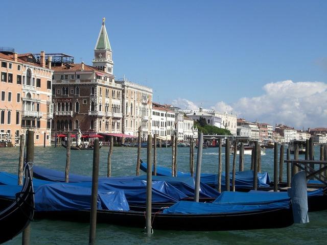 Venice channel water gondola.