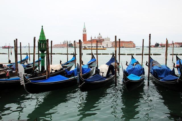Venice gondolas parking.