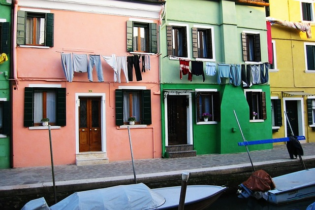 Venice houses italy.